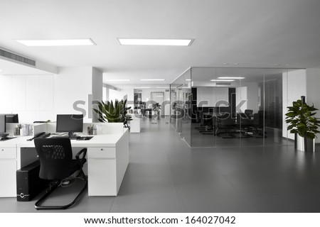Simple and stylish office environment stock photo for Office photo