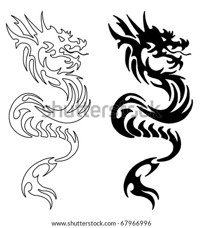 stock photo Simple Asian Dragon