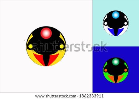 Simple attractive foly ball sports logo Stock fotó ©