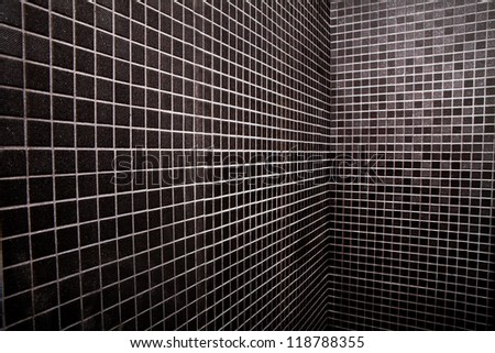 Simple background made  of black squares tiles