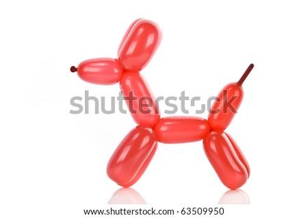 Simple balloon animal dog on white