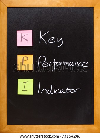 Simple business message on a blackboard, KPI