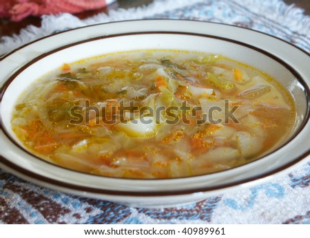 Simple cabbage soup