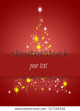 simple card with christmas tree symbol #157168106