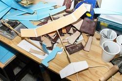 Simple cardboard plane model, aeromodelling as a hobby.