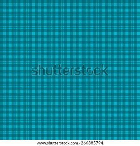 Simple classic traditional plaid checked background pattern in turquoise blue.  It is a seamlessly repeating background pattern.