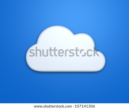 simple cloud computer icon