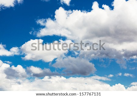 Simple clouds in the blue sky