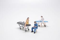 Simple Conceptual Photo, Mini figure doctors and nurses mini figure