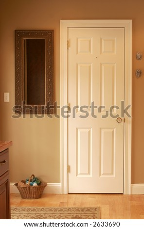 simple door with natural light