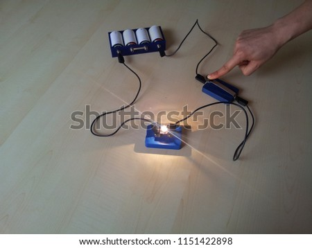 simple electric circuit #1151422898
