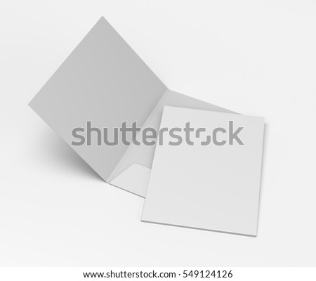 simple folders with two leaf on light background. 3D rendering