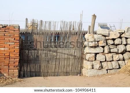 simple gate in rural area