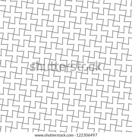 Simple geometric pattern - abstract crosses from the gray lines