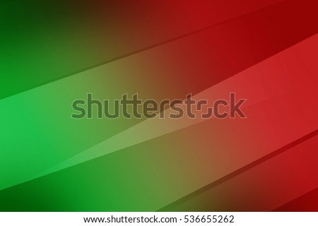 Simple gradient green and red abstract with basic water wave line curve.