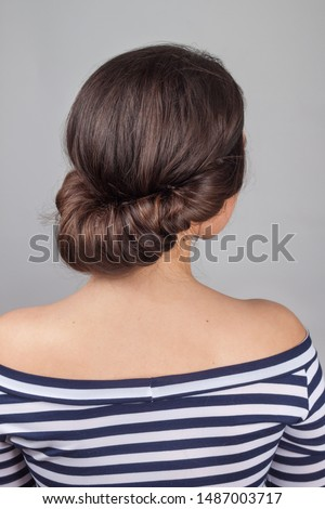 simple greek style hairdo. Hairstyle for long hair