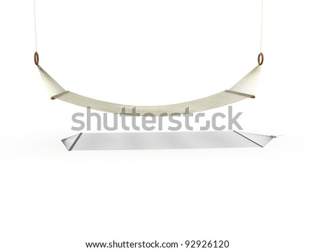 Simple hammock on a white background ?1 - stock photo
