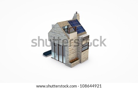 simple house isolated on white background
