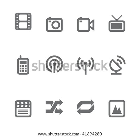Simple icons isolated on white - Set 11 This set includes internet icons for websites, applications or presentations.