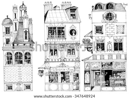 simple illustration french city ...