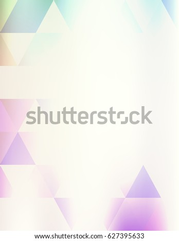 Simple light violet hipster background with transparent triangles. Raster graphic pattern.