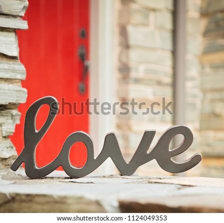 Simple Love Signage   #1124049353