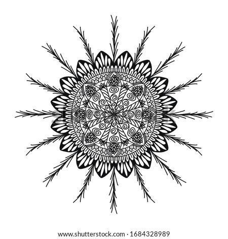 Simple Mandala Design. Mehendi. Illustration. Сток-фото ©