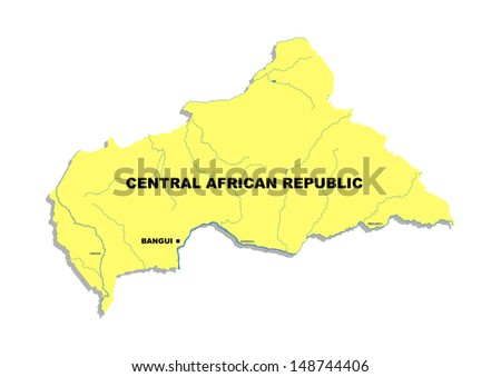 Simple map of Central African Republic