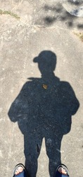 Simple Men's Shadow with Hat