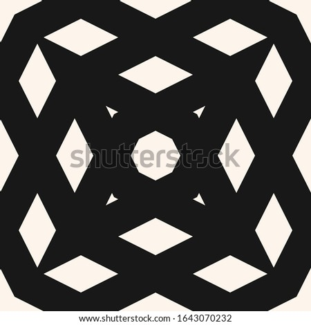 Simple monochrome raster geometric seamless pattern with crossing diagonal lines, grid, net, mesh, lattice. Abstract black and white texture. Minimal graphic background. Repeat tileable design