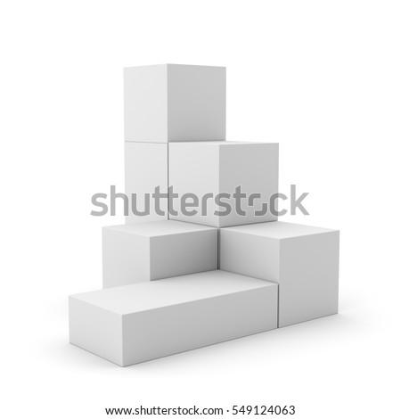 simple multi-box display. 3D rendering