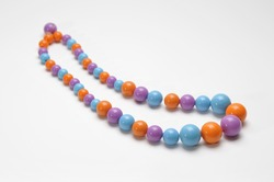 Simple necklace with round beads.