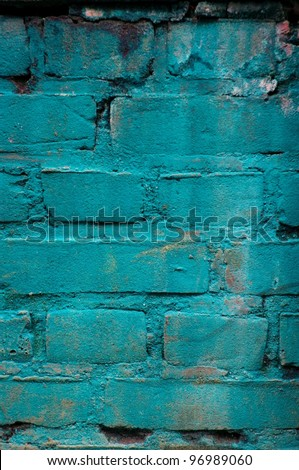 simple old wall of bricks - stock photo