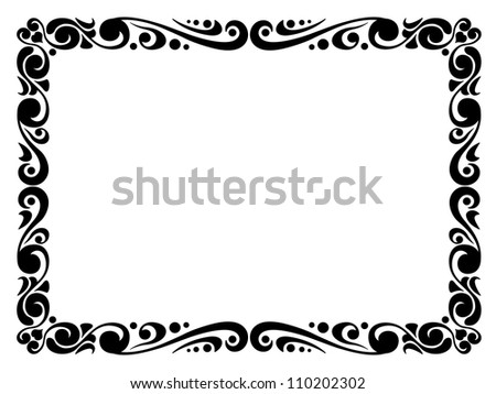 Simple Ornamental Decorative Frame Stock Photo 110202302 ...  Shutterstock Border Design Free Download