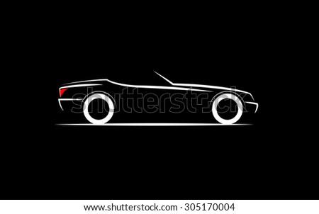 Stylized Car Coupe Ez Canvas