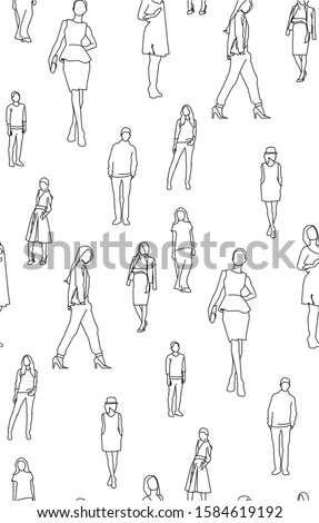Simple pattern of people for wallpaper, interiors, design ideas