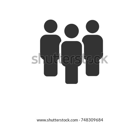 Simple 3 people icon