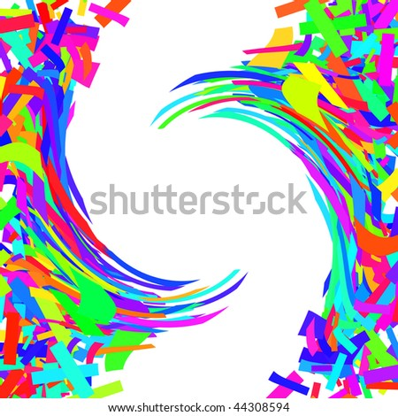 Simple rainbow background twist with white copyspace in the middle.