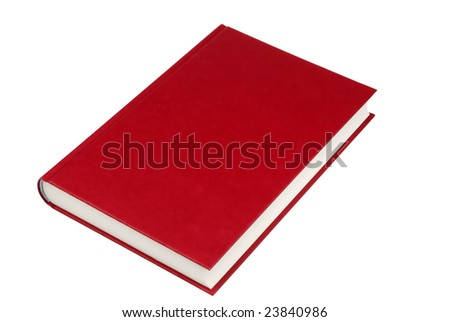 simple red hardcover book isolated on white background