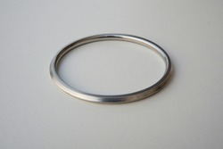 Simple Sikh Silver bangles on white background. Steel, metal or stainless bracelets isolated on white background.