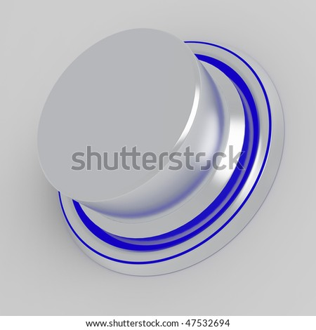 simple silver metallic button with the speck of light