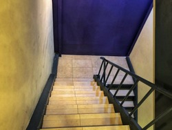 Simple stairs with mysterious feeling