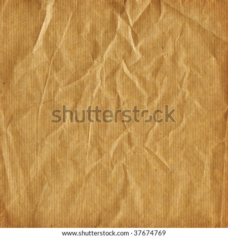 Simple striped - crumpled - wrapping paper in beige