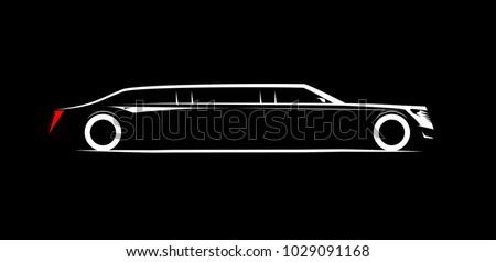simple symbol corporate limousine