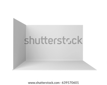 Simple trade show booth. 3d illustration isolated on white background