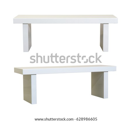 Simple White bench on white background #628986605