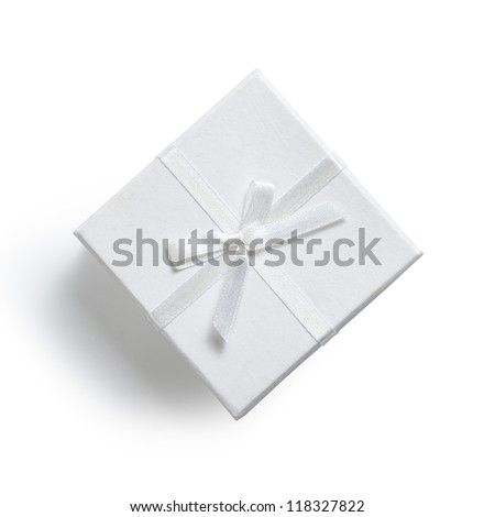 simple white gift box isolated on white