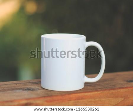 Simple White Mug Close up