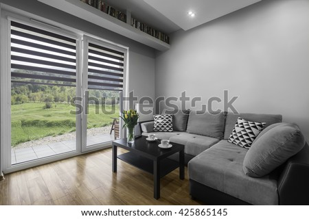 Simply and modern designed living room interior #425865145