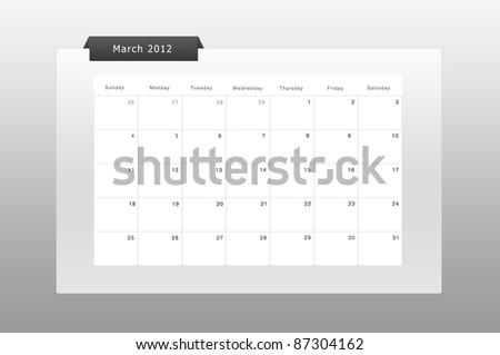 simply calendar & organizer march 2012